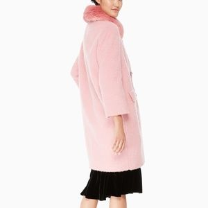 New Kate Spade Tulip pink Jewel button Coat 02468
